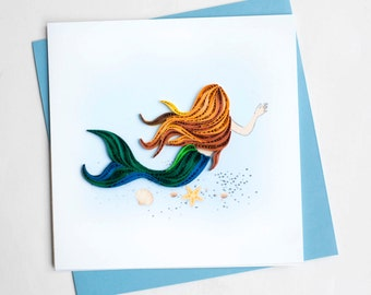 "Mermaid (BL995) 6"" x 6"""