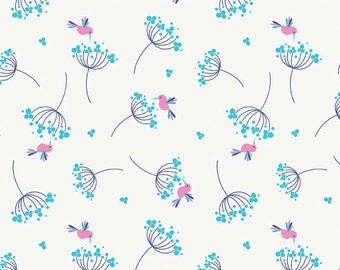 Riley Blake 0.5m 100% Cotton Fabric. Wildflower Meadow in Blue. C4142