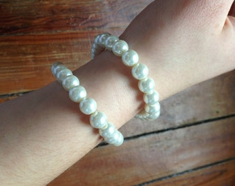 Faux Pearl Bracelet Set of 2