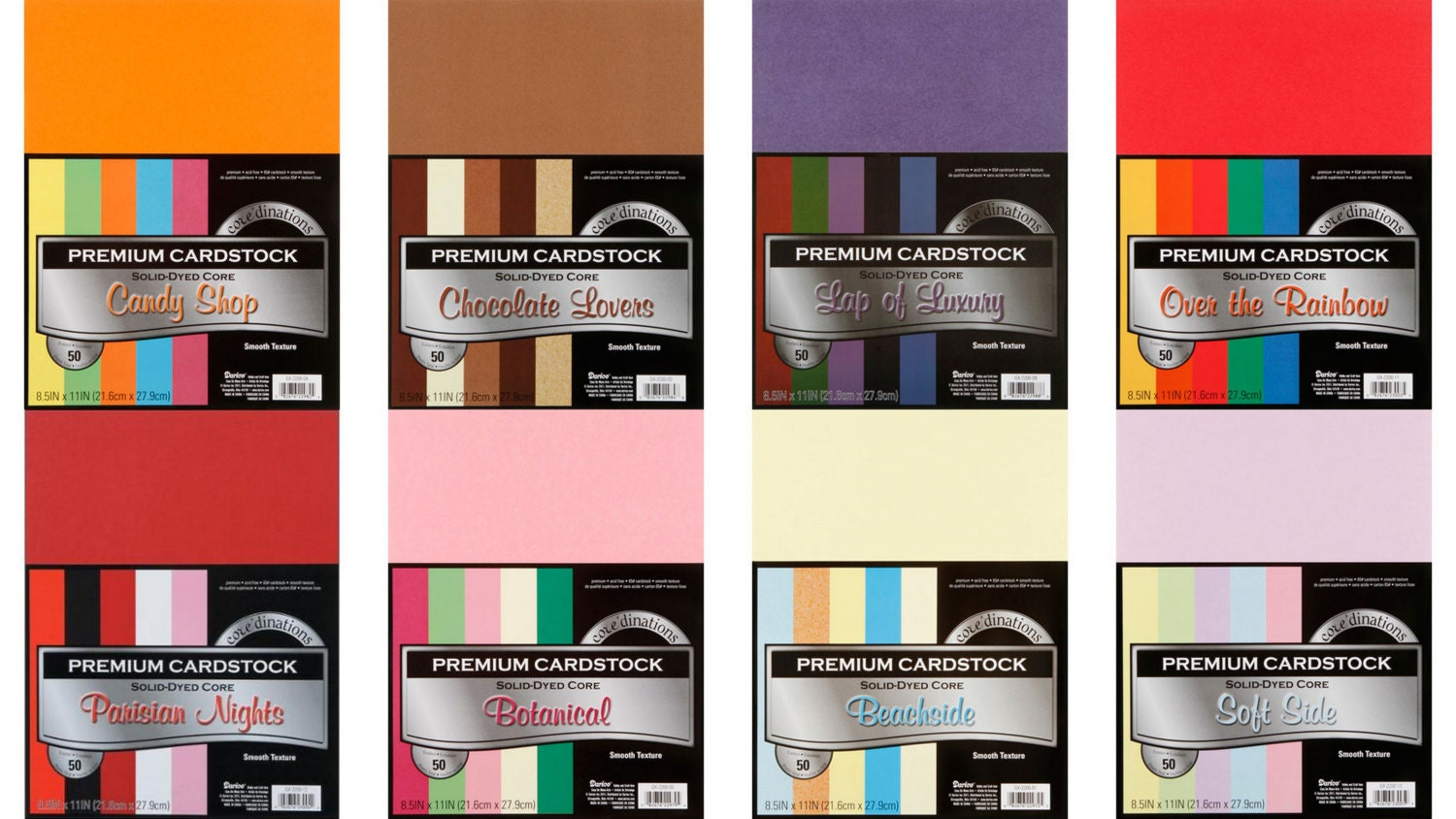 Multi color cardstock paper - Core Dinations Darice Smooth Texture Cardstock Darice Paper Stock Scrapbooking Paper Crafting Card Stock Multi Color Pack Your Choice