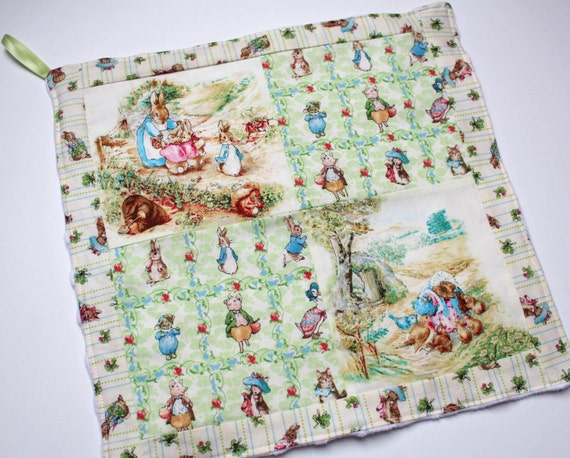 Knitting Pattern For Peter Rabbit Blanket : Peter Rabbit Security Patchwork Mini Blanket Snuggle Lovey