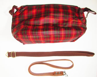 Vintage 1970s Plaid Insulated Lunch Bag