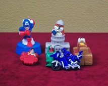 Set of Six Burger King Kids Club Toys