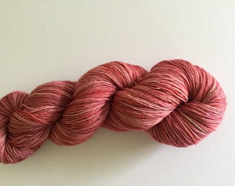 Hand Dyed 4ply Yarn. 100g Rasberry. Knitting, Crochet