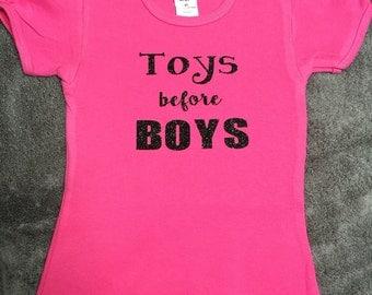 Toys before boys girls shirt