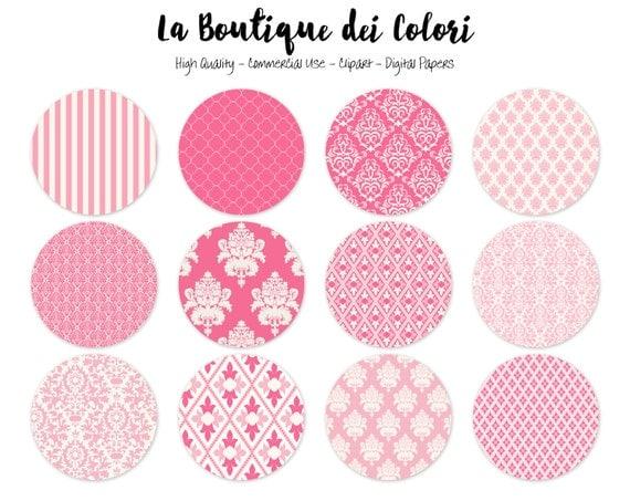 Cute Pink Circles Clipart Cute Circle Clip art. Baby Girl