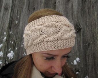 women brown knit headband knit brown  earwarmer knit ear warmer winter headband girly headband teen headband simple headband Winter headband