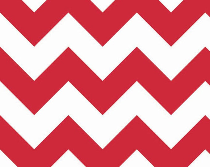One Yard Large Chevron - Large Chevron in Red - Cotton Quilt Fabric - C330-80 - RBD Designers for Riley Blake Designs (W3311)