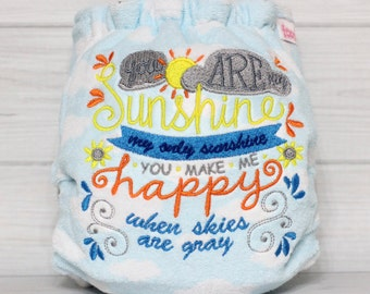 You Are My Sunshine - One Size AI2 (All In Two) Cloth Diaper