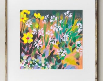 Flowers on the Verge / Signed Flower Giclee Print