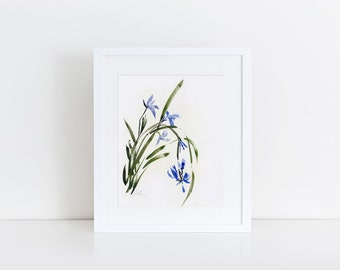 orchid 3- watercolor art print
