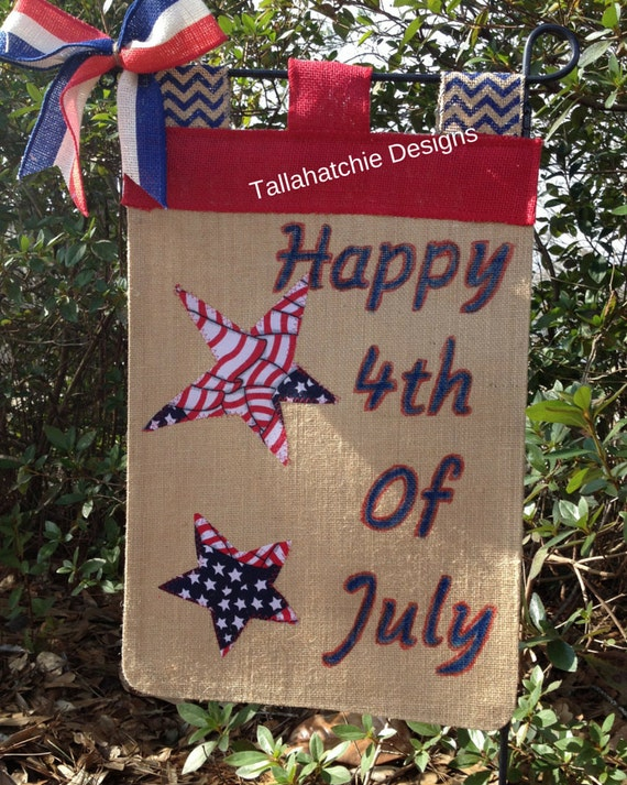 4th of july garden flags 4th of july garden flag patriotic burlap garden flag 7362