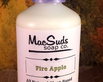 FIRE APPLE Lotion,  Fireball Whiskey lotion,  Apples Lotion,  Cinnamon Lotion, Paraben free, Non-greasy lotion, Organic body lotion, Vegan
