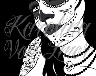 La catrina black - Original Art