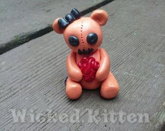 Cute Creepy Plushy Figure with an anatomical heart