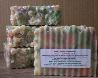 Mint Mango Tea - Beeswax & Honey Soap - Large 5-6oz. Each