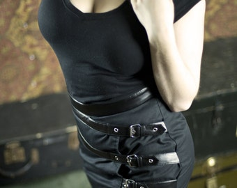 Leather Cage Skirt