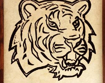 LSU Tiger Decorative Tile