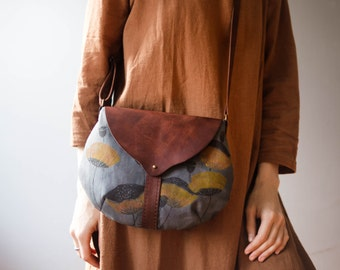 "Leather-textile bag ""Poppy"""