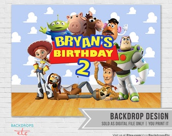 Toy Story Dessert Backdrop // Toy Story Printable Backdrop