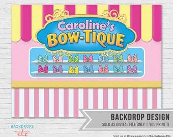Minnie Mouse Bowtique Printable Party Backdrop // Minnie's Bowtique Dessert Table Backdrop