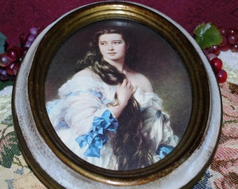 """Action Industries Cheswick PA Italy 8-1/8"""" X 6-1/2"""" Gilded Victorian Framed Art"""