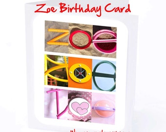Zoe Personalised Birthday Card