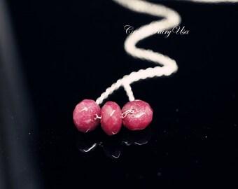 Ruby Necklace - Tiny Genuine 925 Sterling Silver Ruby Choker - 14k Gold Ruby Jewelry, Ruby choker
