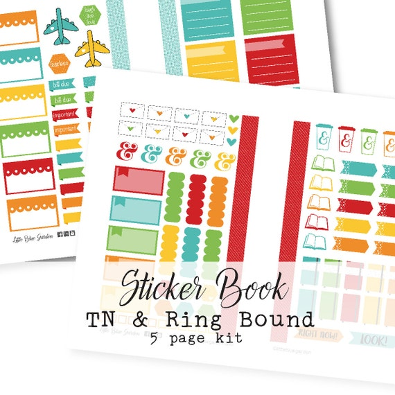 Book Box Love Edition: Rainbow PRINTABLE Sticker Kit -Instant Download ...