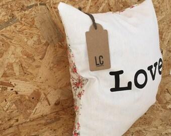 Love Floral Cushion cover
