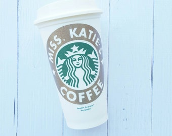 Personalized Teacher Starbucks Cup, teacher gift, end of year gift, special education, teacher appreciation