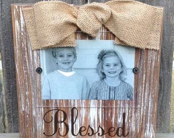 Blessed Whitewashed Frame