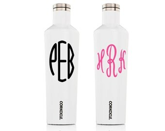 Personalized Corkcicle 25oz Canteen {White}