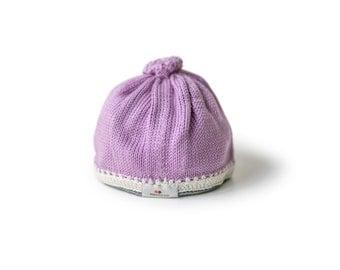 Caribbean Baby Hat: Lavender