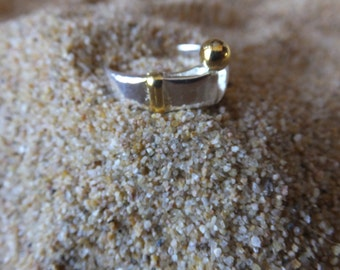Sterling Silver and Gold Plated Band  size 8