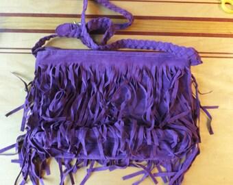 Cross Shoulder Faux Suede  Hand bag size  35cm x 25cm x 10cm
