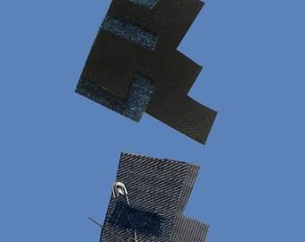 Geometric Fabric Brooch