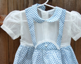 Dainty Blue Peter Pan Collared Dress / Baby
