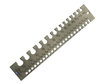 Wire Gauge Measuring Tool Standard SWG 0-36 Precision Measuring Insturment WA 300-007