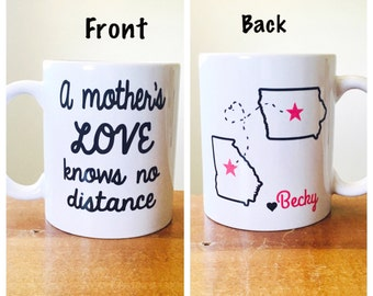 a mother's love knows no distance long dostance love mug gift for mom