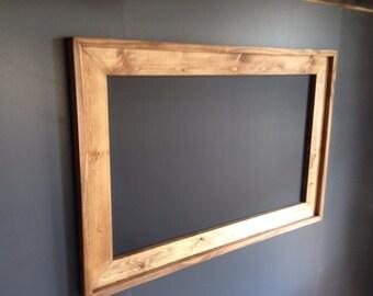 Rustic Framed Chalkboard, Rustic Wedding Chalkboard, Kitchen Menu, Menu Board, Rustic Frame