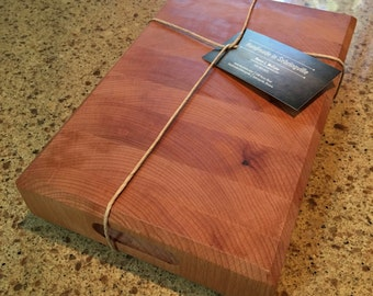 Wooden Serving Block; Thick Cutting Board