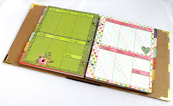 life organizer agenda book personal planner by ourmomstouch