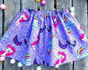 My Little Pony Skirt, MLP Skirt, Boutique Skirt, Playtime Clothing, Cotton Skirt, School Skirt