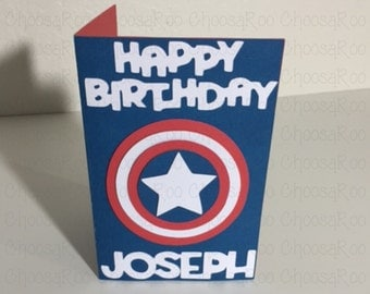 Captain america card Etsy