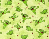 AE Nathan - Comfy Flannel Happy Jumping Frogs