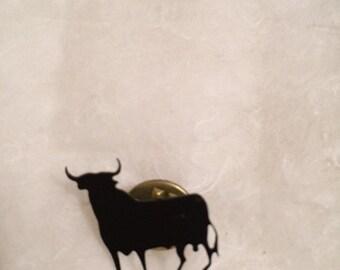 Vintage Unique black bull Spain/Madrid style brooch/pin