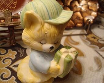 """Vintage Porcelain """"Feline Feelin's"""" Cat Figurine - Circa 1986 - Excellent Condition!!"""