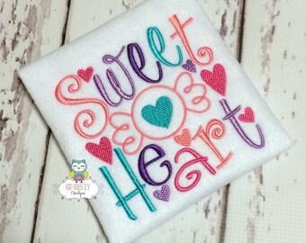 Sweet Heart Shirt or Bodysuit, Girl Valentine Shirt, Girl Sweet Heart Shirt, Sweet Heart, Valentine Shirt