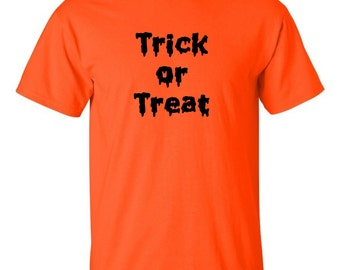Trick or Treat Men's T-shirt School Parent Party Candy Holiday Tee